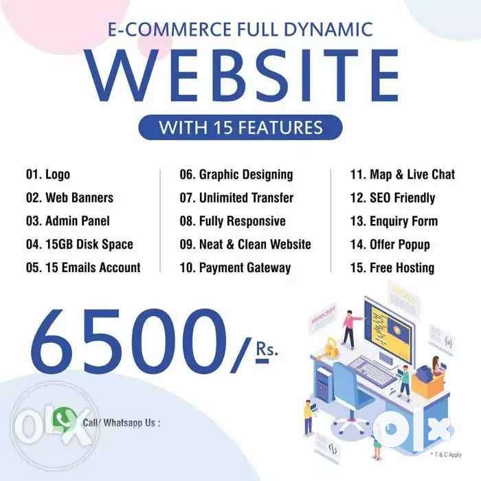 Create a E-Commerce Website of Your Dreams Shop in just 6500 0