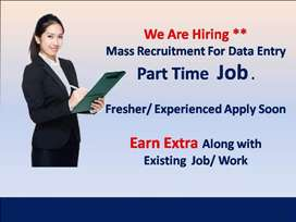 DATA ENTRY WORK HOME BASED PART TIME JOB