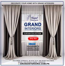 Customize designer curtains and blinds by Grand interiors