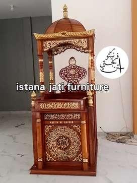 Mimbar masjid Mimbar Mikhrob minimalis