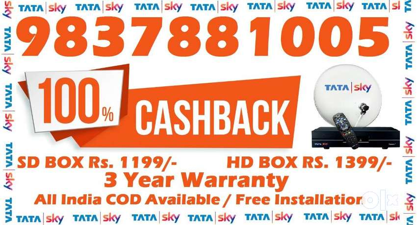 Tata Sky DTH Connection- D2h Videocon Tatasky Dish - Cash On Delivery 0