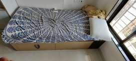 Custom-made single box bed