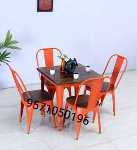 Iron & wooden mix restaurant furniture only bulk