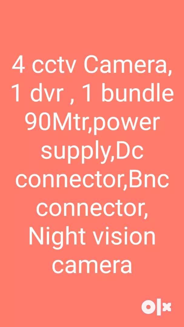 4 camera ( 2m) , 1 dvr , wire , hdd 500 Gb 0