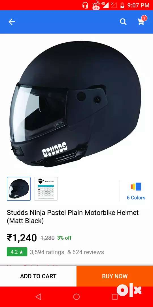 Helmet ninja medium size 0