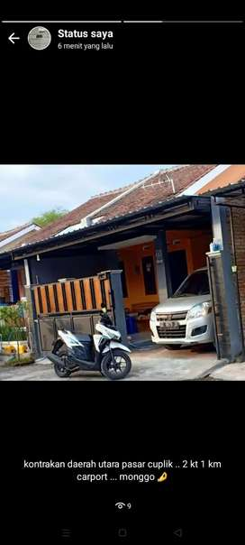kontrakan 1 unit rumah di daerah utara pasar cuplik