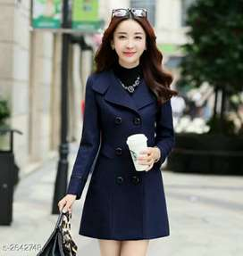 Stylish polyester women's coat