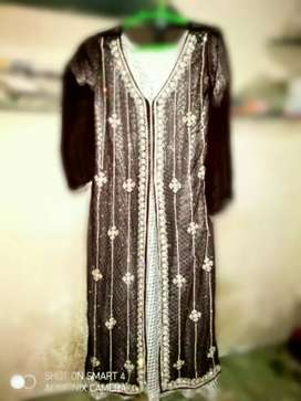 Brown beautiful frok  for girls