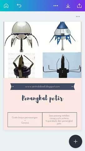 penangkal petir best quality + free ahli teknisi proffesional