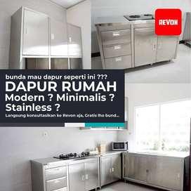 kitchen set stainless steel dapur rumah, resto, bakery Kulonprogo