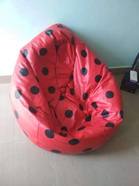 Bean bag with beans filled