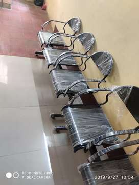 Iron 3seat chair
