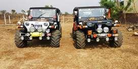 Modified jeep Mahindra classic commander thar