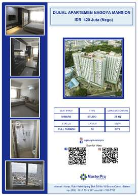 Apartemen NAGOYA MANSION Studio Type 25m2 - Lt 12