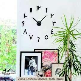 Jam dinding besar hijaiyah