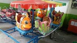 RST Kereta mini rumah balon odong2 kereta kelinci pancingan bompes IIW