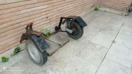Activa side wheel with frame