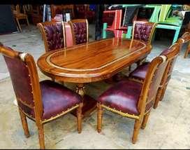 Meja makan salina kursi 6 kayu jati jepara#promo