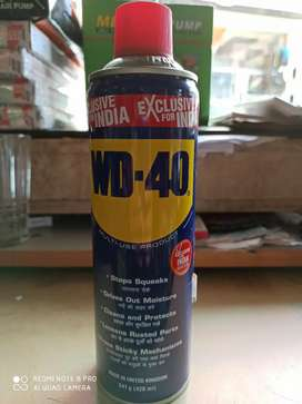 WD 40 FOR LOOSEN NUT BOLTS HINGES BIKE CHAINS