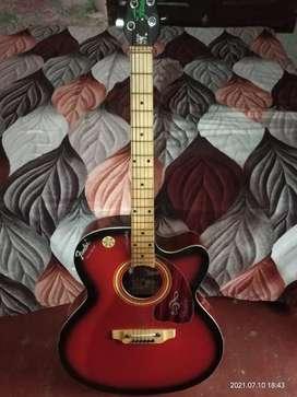 Red new beautiful guitar.. .
