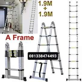 tangga lipat telkom 3.8m anti goyang