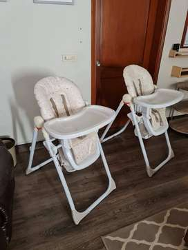 Mothercare high chairs for sale LIKE NEW