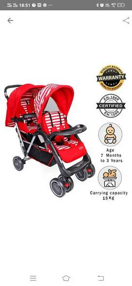 Baby pram and stroller for twins
