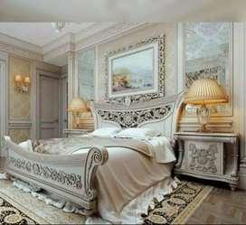 Kamar tidur jati motif ukiran