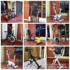 Jual treadmill elektrik // sepeda statis // home gym // alat fitness