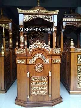 Ready Mimbar Masjid Material Kayu Jati Berkualitas @596