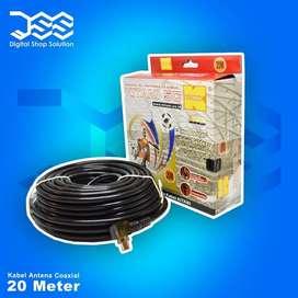 Kabel Antena Coaksial Kitani 5C/RG6 ukuran 20M