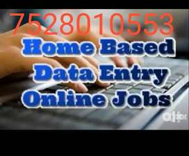 We wanted data entry operator, this is a part time job