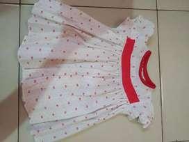 Baju baby motif bunga kecil