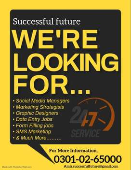 Males & females both can apply  - Data entry online working in Pakista