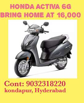 HONDA ACTIVA 6G LOW DOWN PAYMENT 16000