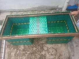 Di jual keranjang motor bahan plastik pet tebal ( Bronjong )
