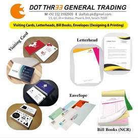 Bill books, Letterheads, Visiting Cards Printing