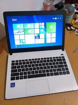 Laptop Asus Slim X401u putih murah vga radeon lancar editing