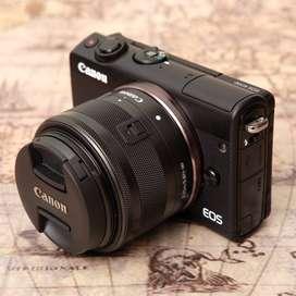 Canon M100 Fullsett kit 15-45mm IS STM Black kode 0117A20