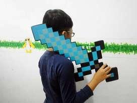 Pedang Minecraft Diamond Sword import