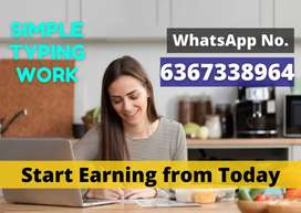 Simple job.Vacancy for all ...Start earning from today.