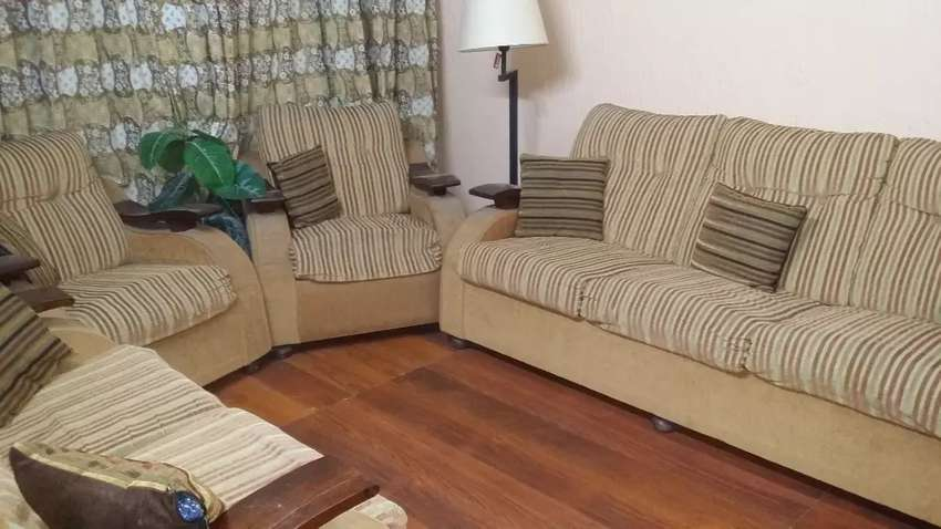 Seven seater sofa in good condition 0
