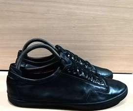 Sepatu kulit Elle Homme Full Black Sneakers shoes