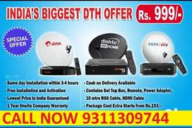 ALL DTH Airtel  ! DishTV ! Videocon D2H Tata Sky DTH NEW HD CONNECTION