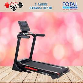 Alat fitness treadmill elektrik TL 126 treadmil TOTAL COD Sidoarjo