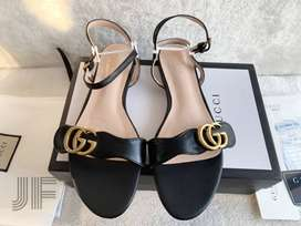 Gucci Double G Luxury Leather Sandal