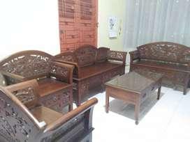Kursi+meja kayu