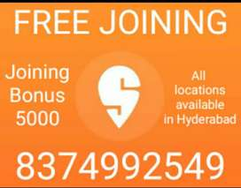 DELIVERY PARTNER REQUIRED FOR SWIGGY/JOINING BONUS AVAILABLE