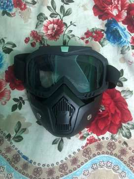 One time used HELMET GOGGLES FOR SALE