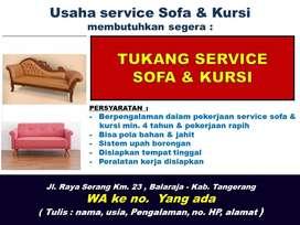 DICARI TUKANG SERVICE SOFA & KURSI